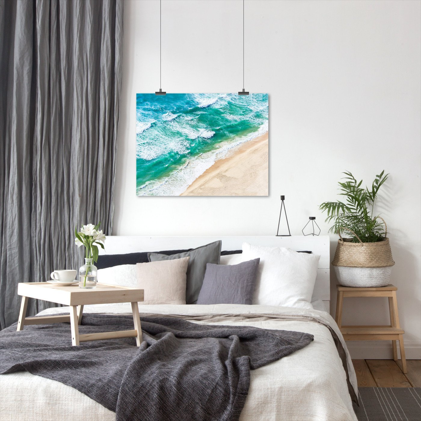 Beach And Waves by Sisi and Seb - Art Print - Americanflat