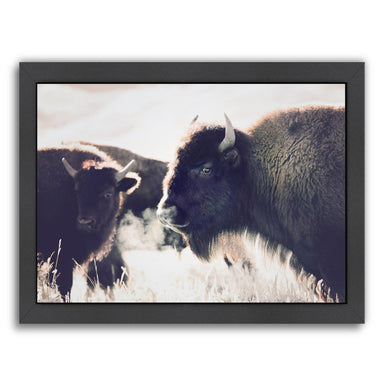 Bison By Sisi And Seb - Black Framed Print - Wall Art - Americanflat