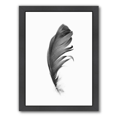 Black Feather By Sisi And Seb - Black Framed Print - Wall Art - Americanflat