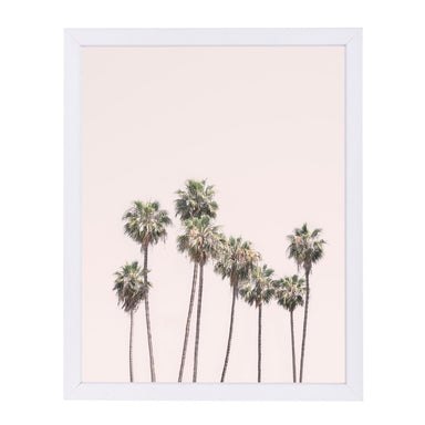Blush Palm Trees By Sisi And Seb - White Framed Print - Wall Art - Americanflat