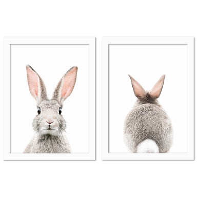 Bunny Face by Sisi and Seb - 2 Piece Framed Print Set - Americanflat