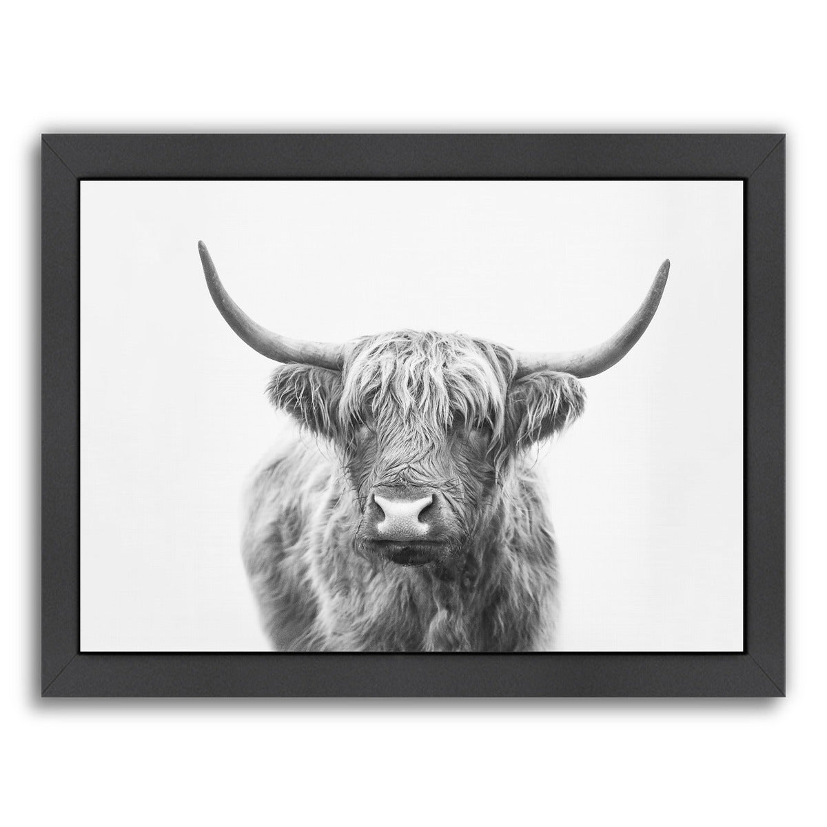 Highland Bull By Sisi And Seb - Black Framed Print - Wall Art - Americanflat