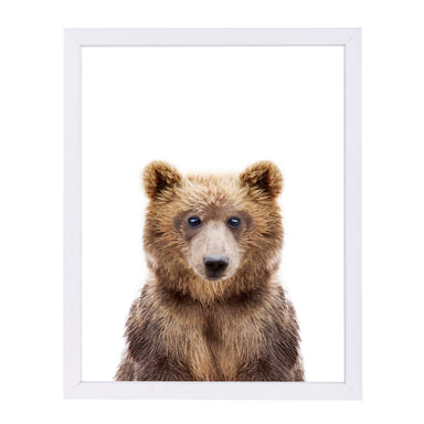 Little Bear By Sisi And Seb - White Framed Print - Wall Art - Americanflat