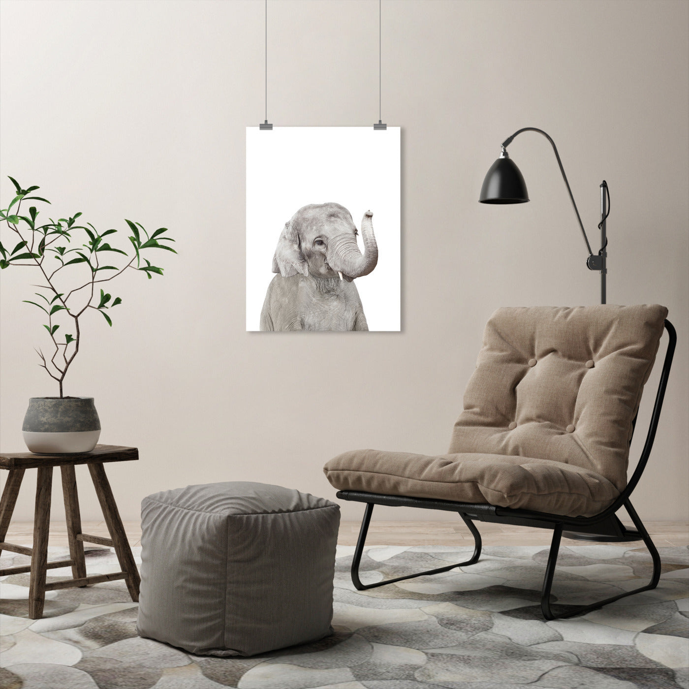 Little Elephant by Sisi and Seb - Art Print - Americanflat