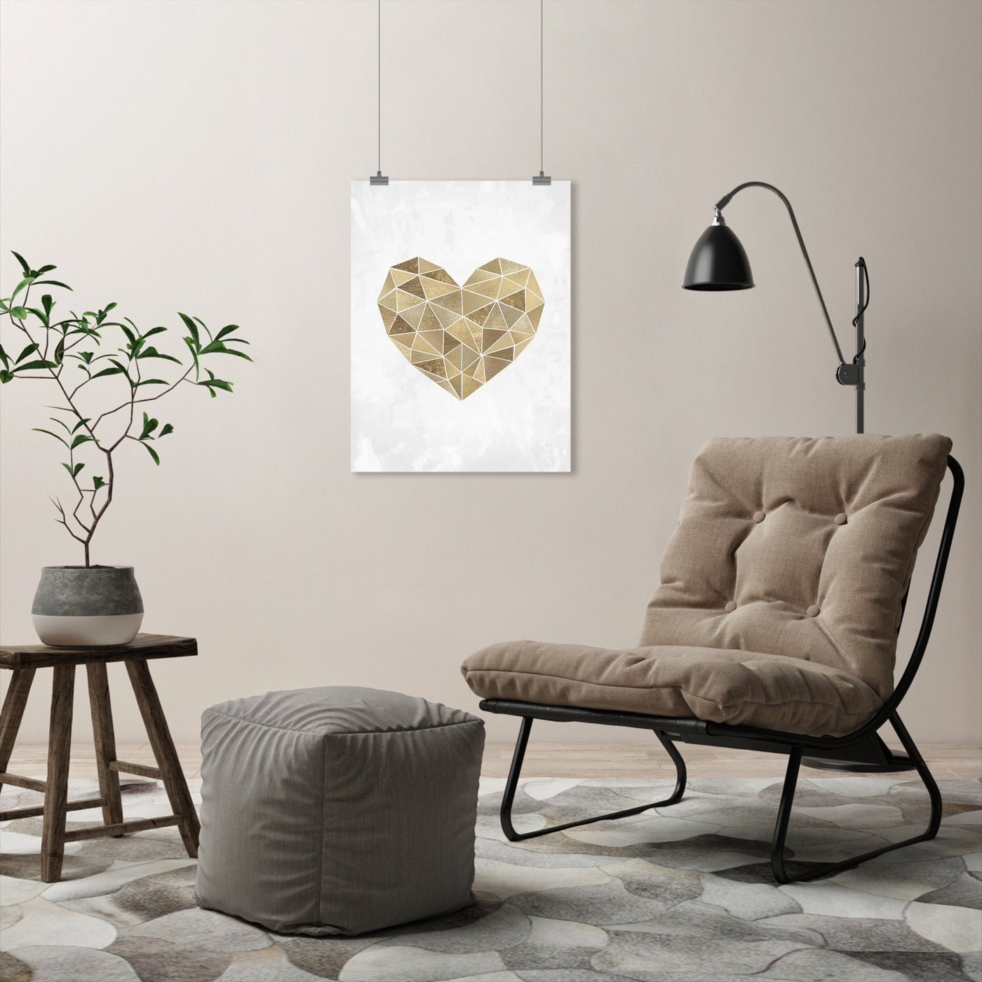 Mosaic Heart by Sisi and Seb - Art Print - Americanflat