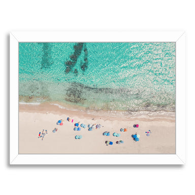 People On The Beach By Sisi And Seb - White Framed Print - Wall Art - Americanflat