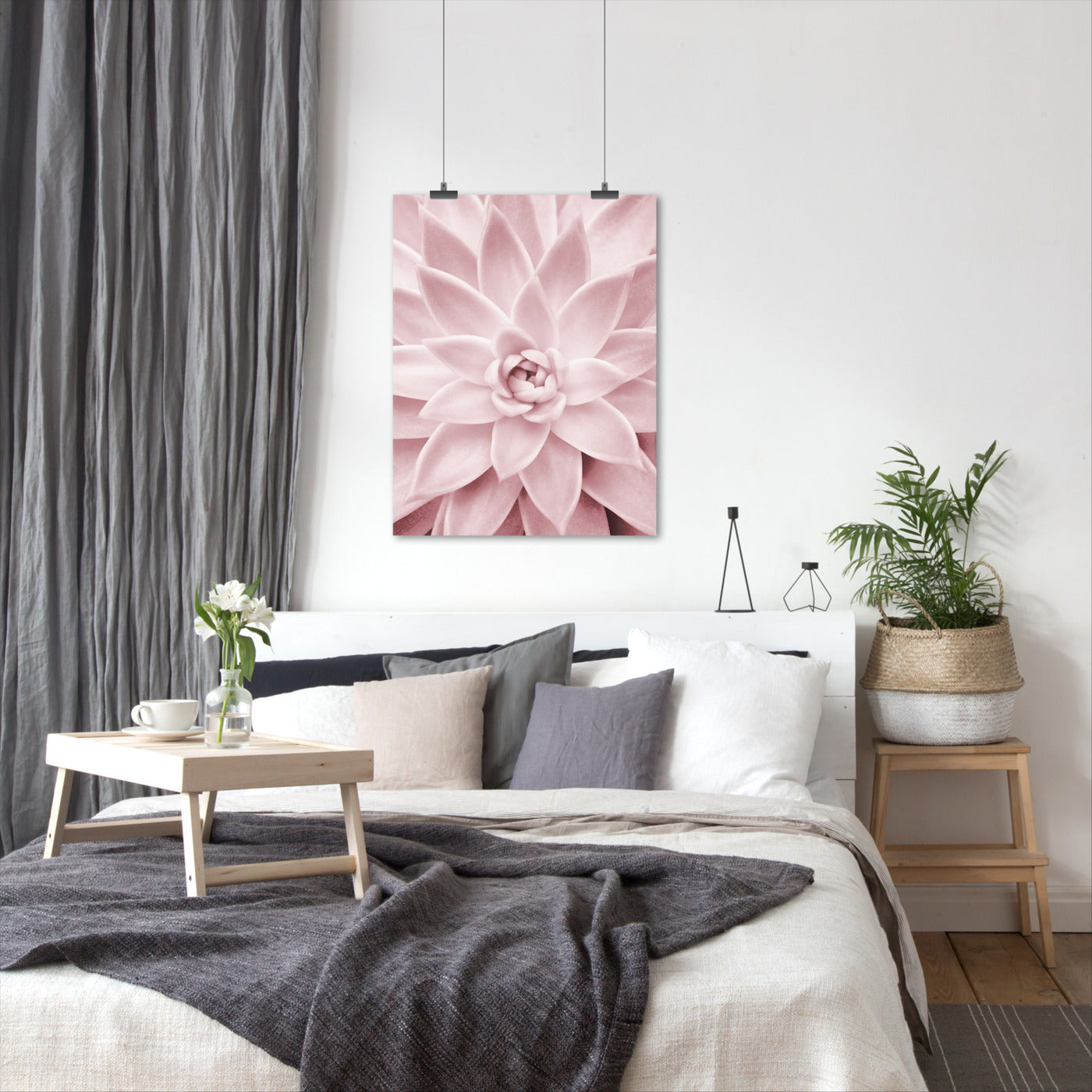Pink Succulent by Sisi and Seb - Art Print - Americanflat