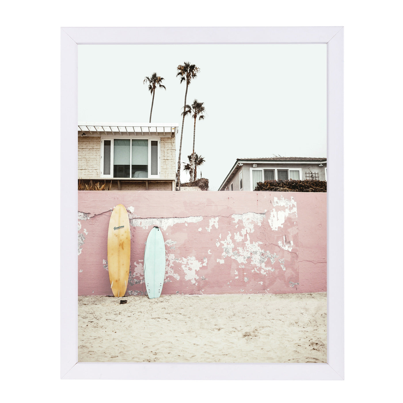 Vacay By Sisi And Seb - White Framed Print - Wall Art - Americanflat