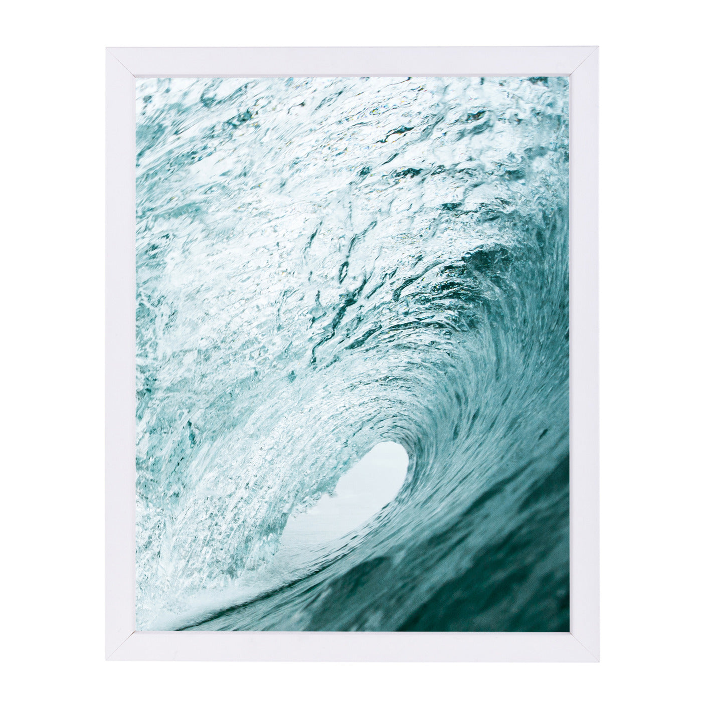 "Wave By Sisi And Seb - White Framed Print, Wall Art, Sisi and Seb, 8"" x 10"""