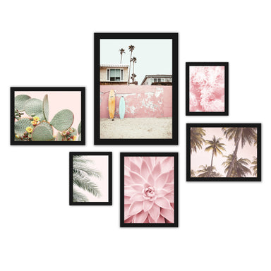 Southwest Beach Photography Framed Gallery Wall Set - Art Set - Americanflat