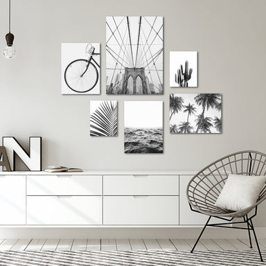 Black & White Photography Canvas Gallery Wall Set 2 - Art Set - Americanflat