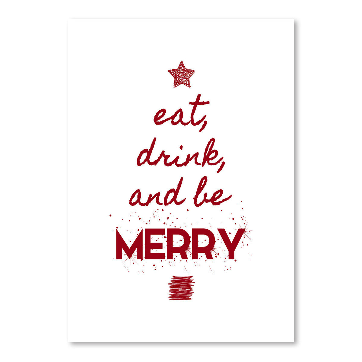 Eat Drink And Be Merry by Kate Shephard - Art Print - Americanflat