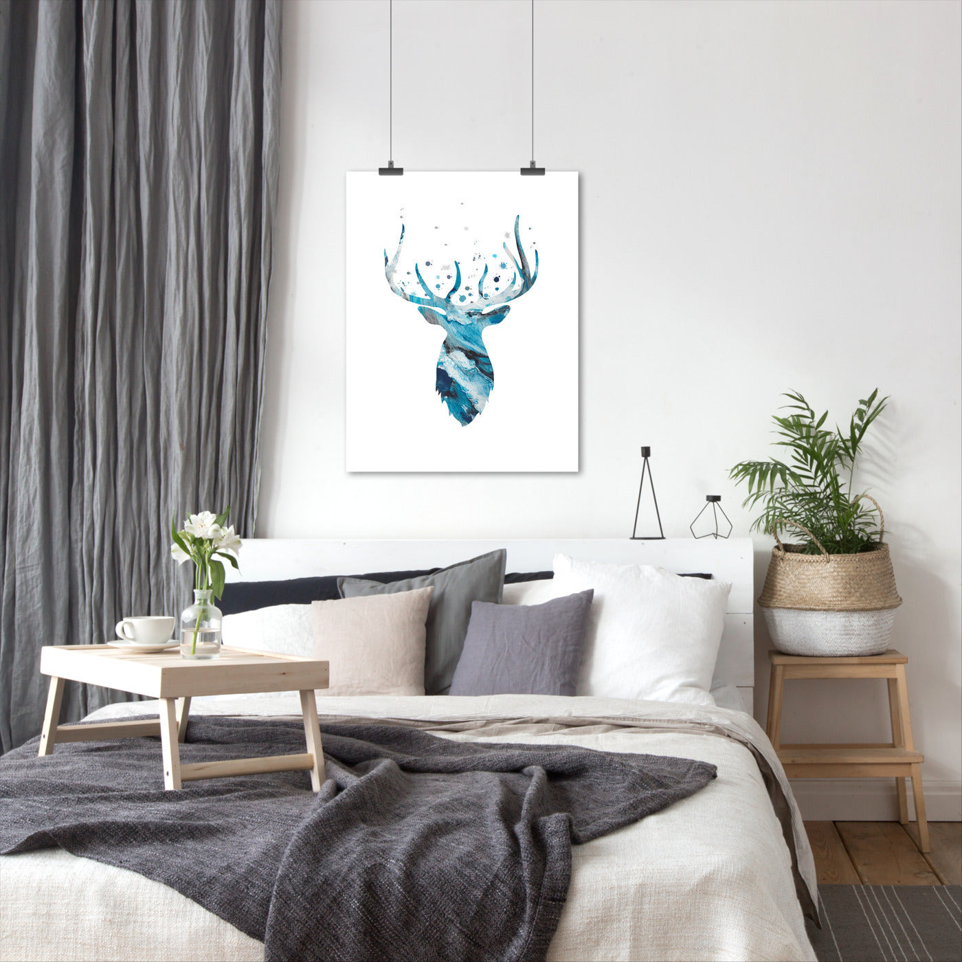 Stag Head by Kate Shephard - Art Print - Americanflat