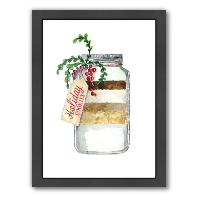 Holiday Cookies In A Jar By Blursbyai - Black Framed Print - Wall Art - Americanflat