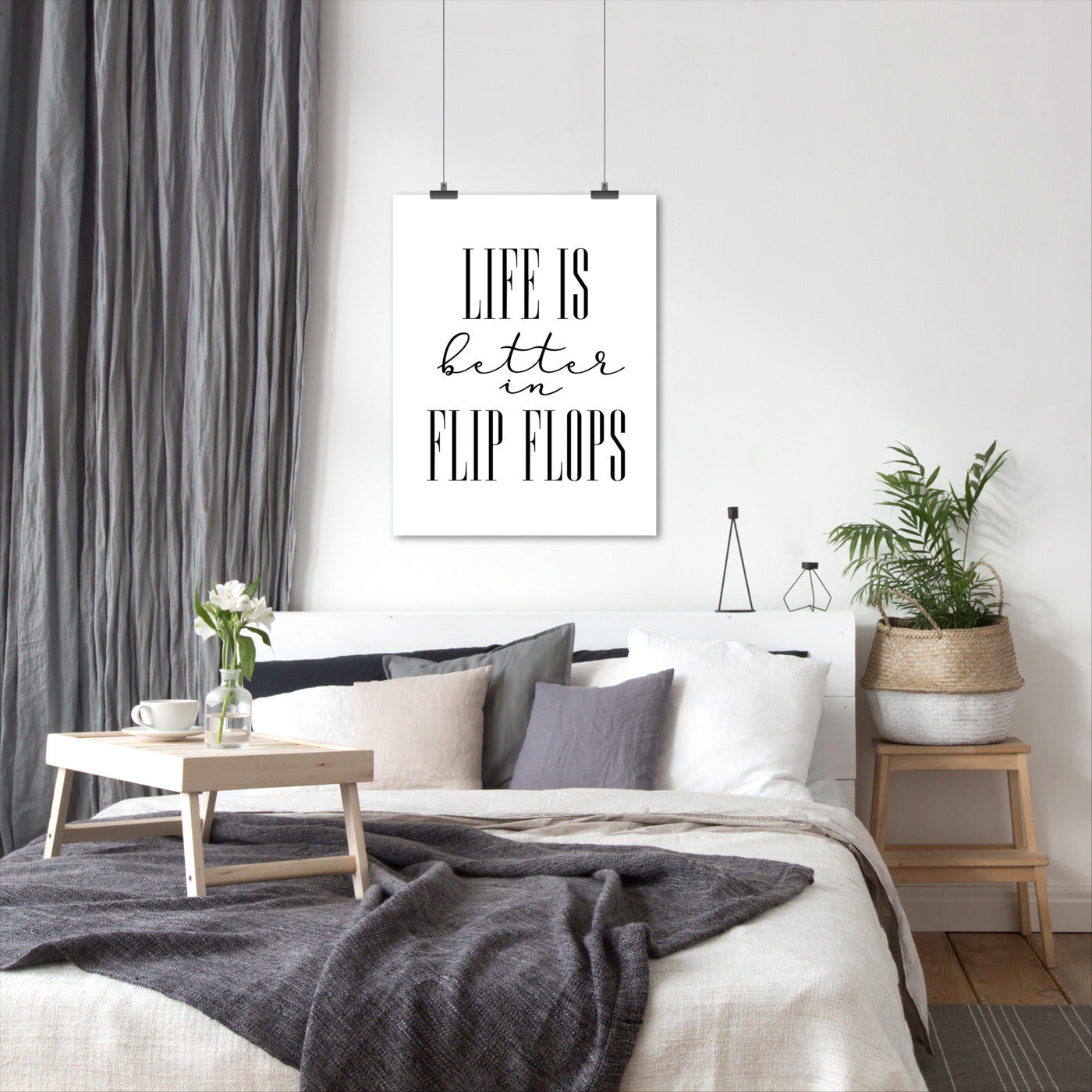 Life Is Better In Flip Flops by Blursbyai - Art Print - Americanflat