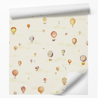 "18' L x 24"" W Peel & Stick Wallpaper Roll - Red Hot Air Balloons by DecoWorks - Wallpaper - Americanflat"