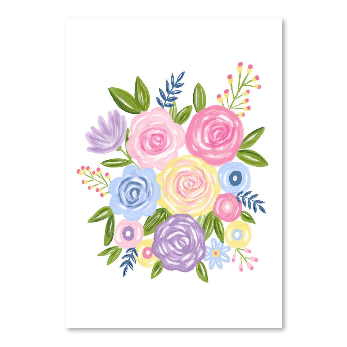 Colorful Roses by Lisa Nohren - Art Print - Americanflat