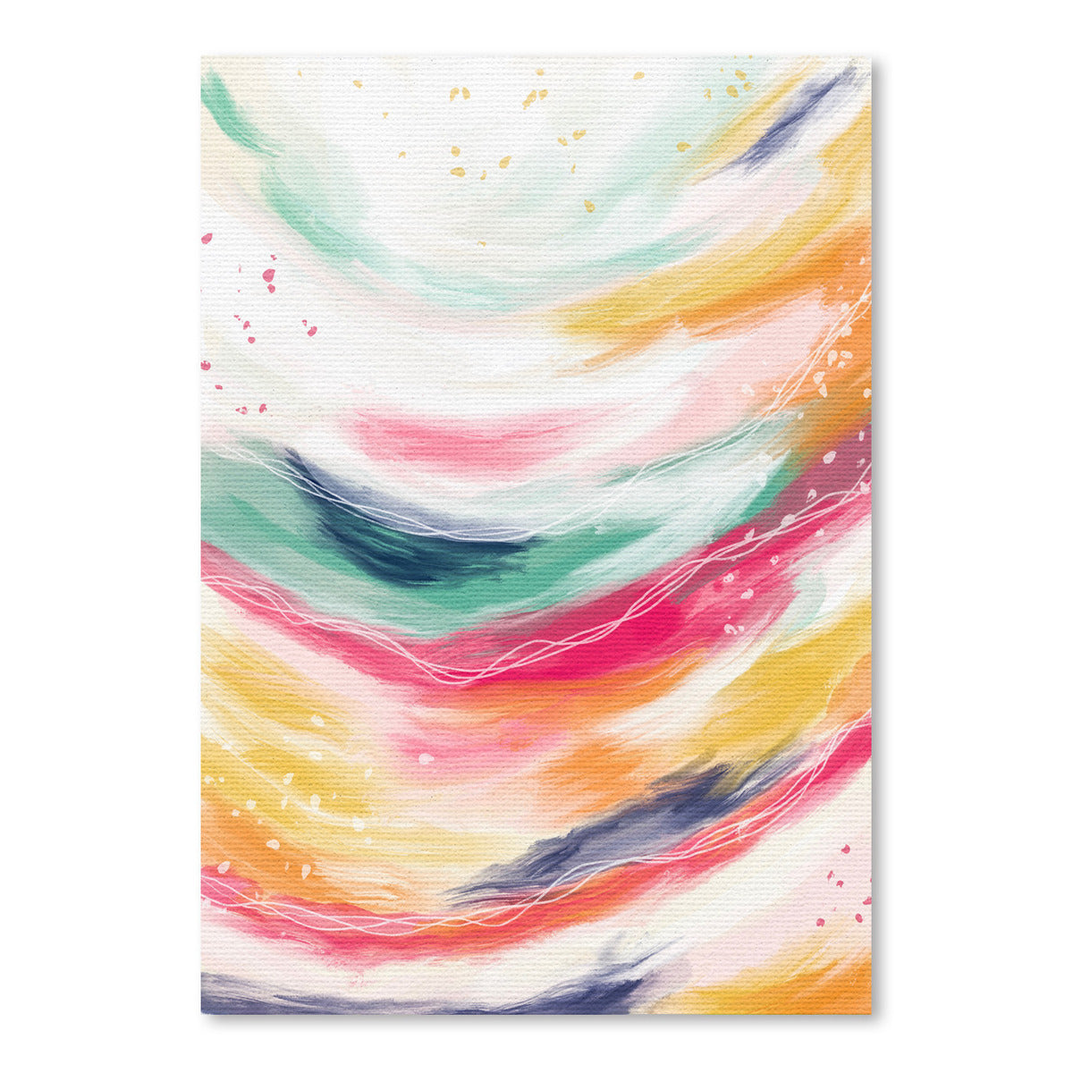 Colorful Strokes by Lisa Nohren - Art Print - Americanflat