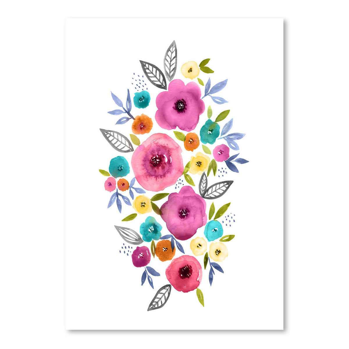 Floral Watercolor Pink by Lisa Nohren - Art Print - Americanflat