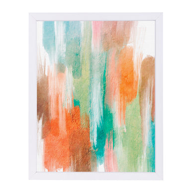 Orang Teal Abstract By Lisa Nohren - White Framed Print - Wall Art - Americanflat