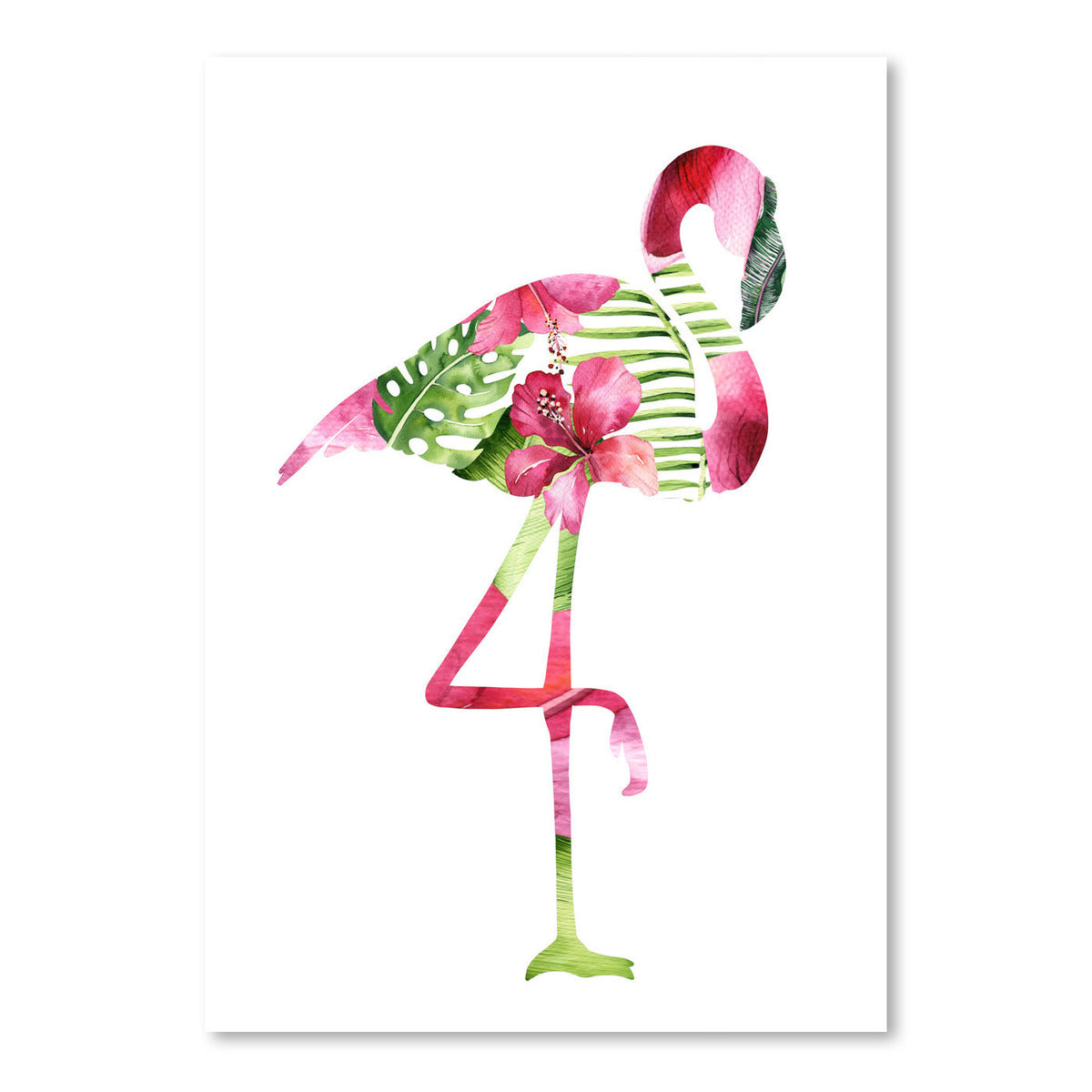 Tropical Flamingo by Lisa Nohren - Art Print - Americanflat