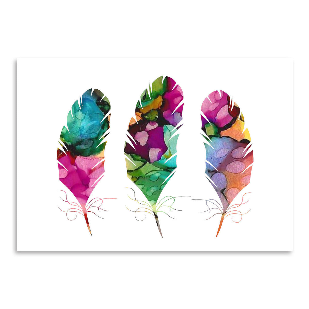 Watercolor Feathers by Lisa Nohren - Art Print - Americanflat
