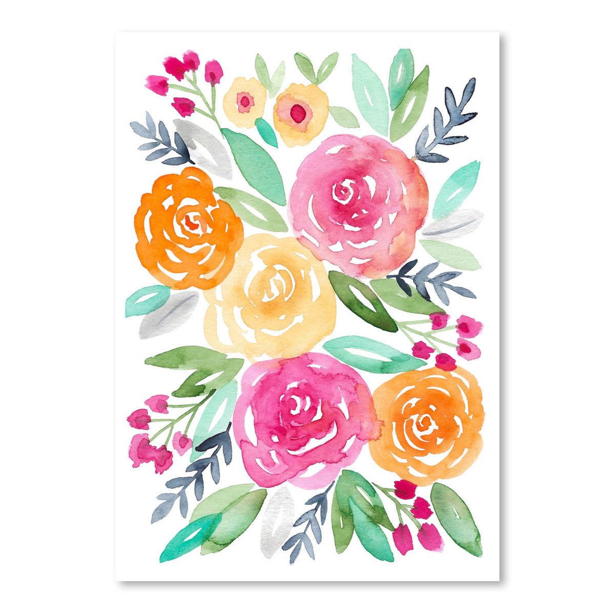 Watercolor Floral 2 by Lisa Nohren - Art Print - Americanflat