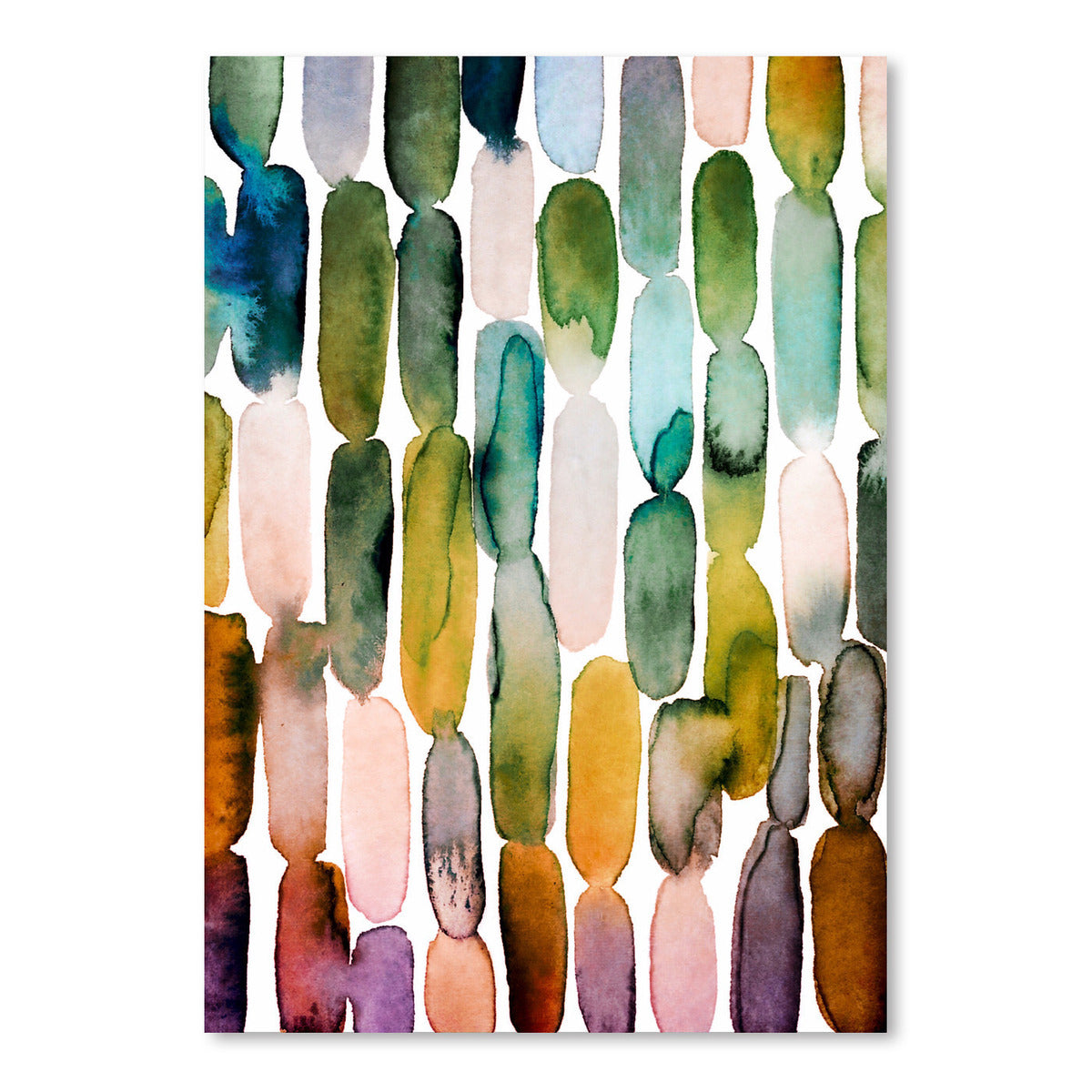 Watercolor Strokes 1 by Lisa Nohren - Art Print - Americanflat