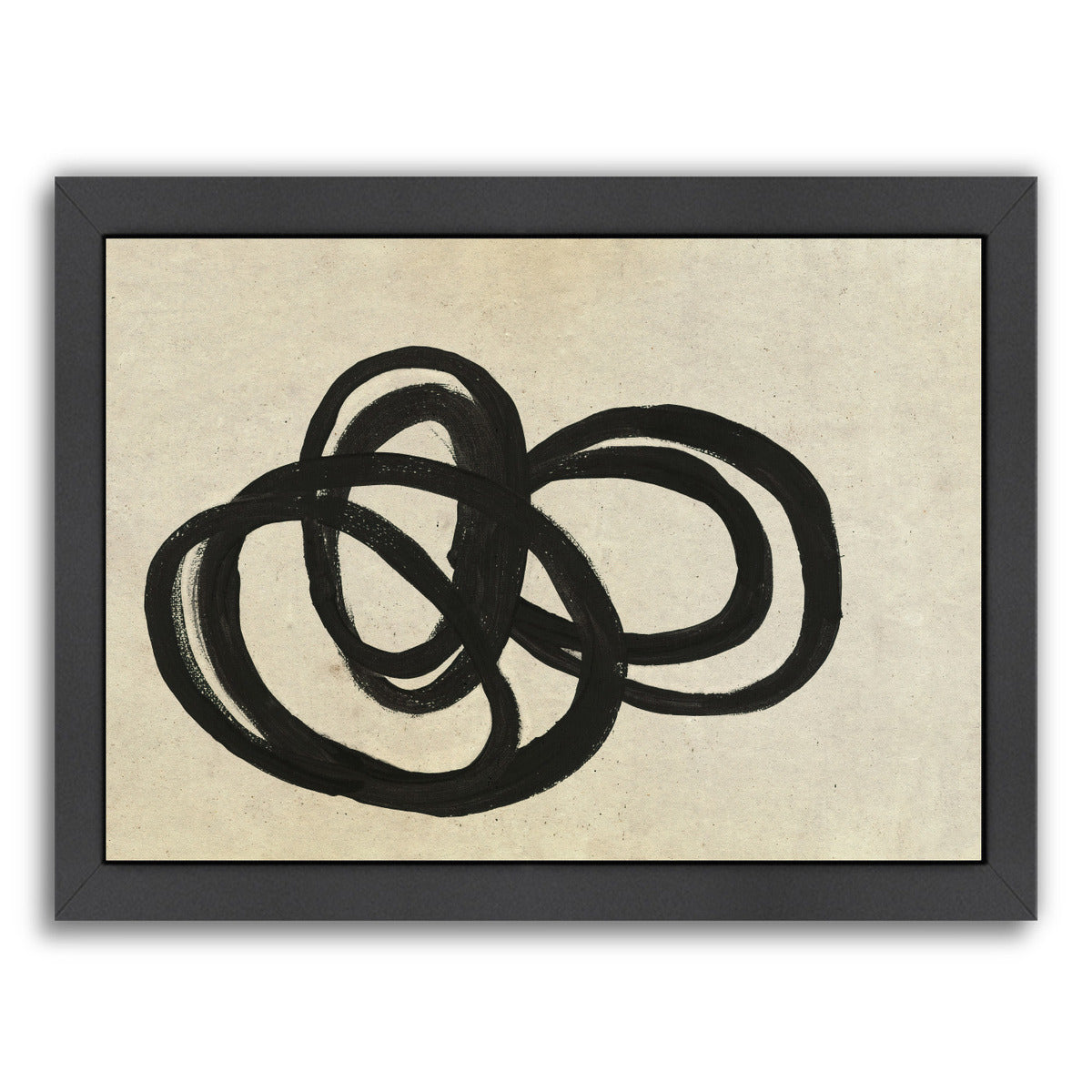 Loops Ii By Chaos & Wonder Design - Black Framed Print - Wall Art - Americanflat