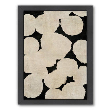 Beige and Black By Chaos & Wonder Design - Black Framed Print - Wall Art - Americanflat