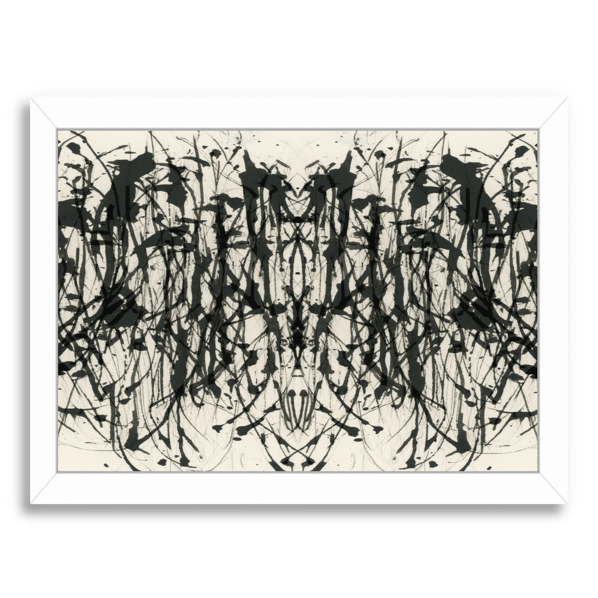"Gothic Abstract Iv By Chaos & Wonder Design - White Framed Print, Wall Art, Chaos & Wonder Design, 8"" x 10"""