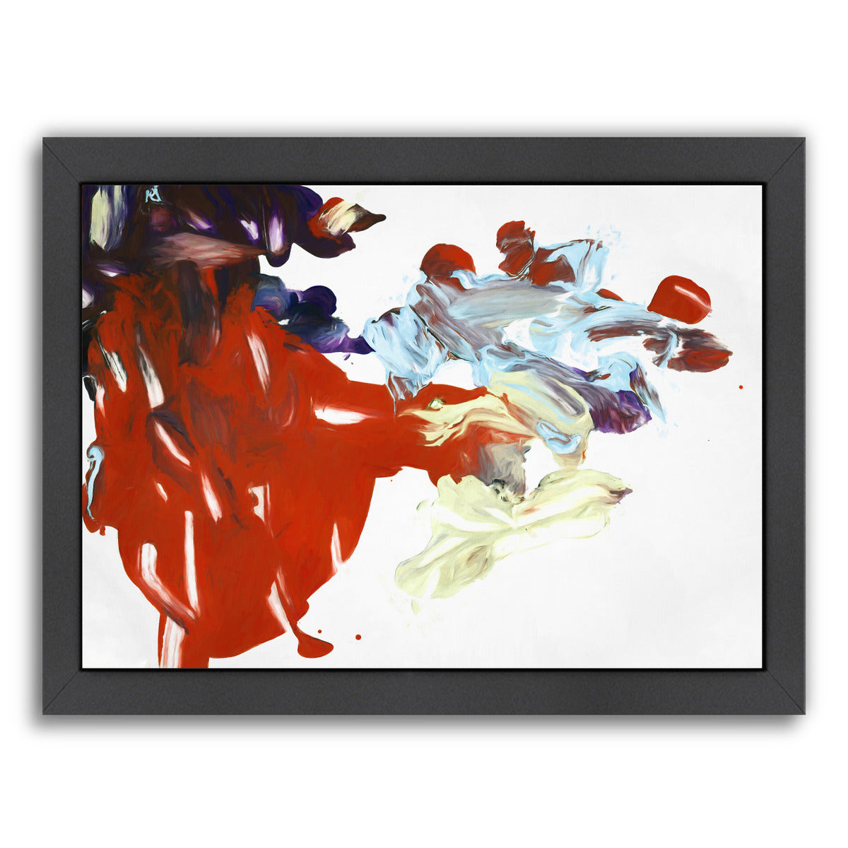 Palette Abstract Viii By Chaos & Wonder Design - Black Framed Print - Wall Art - Americanflat