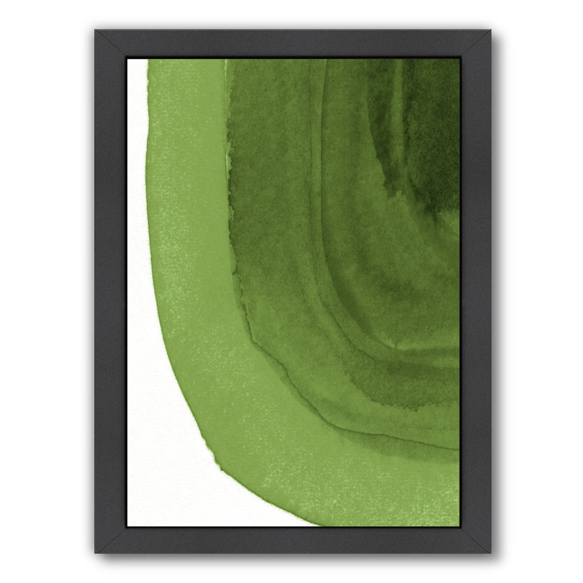 "Green Curves By Chaos & Wonder Design - Black Framed Print, Wall Art, Chaos & Wonder Design, 8"" x 10"""