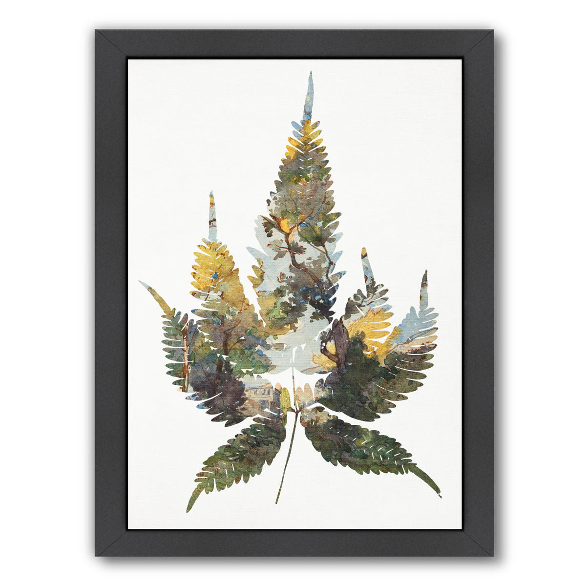Leaf Collage I By Chaos & Wonder Design - Black Framed Print - Wall Art - Americanflat