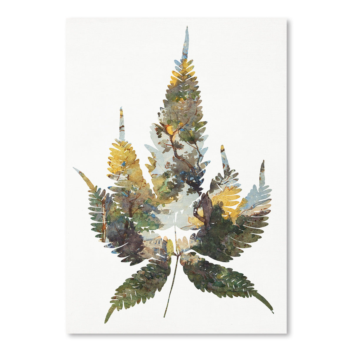 Leaf Collage I by Chaos & Wonder Design - Art Print - Americanflat