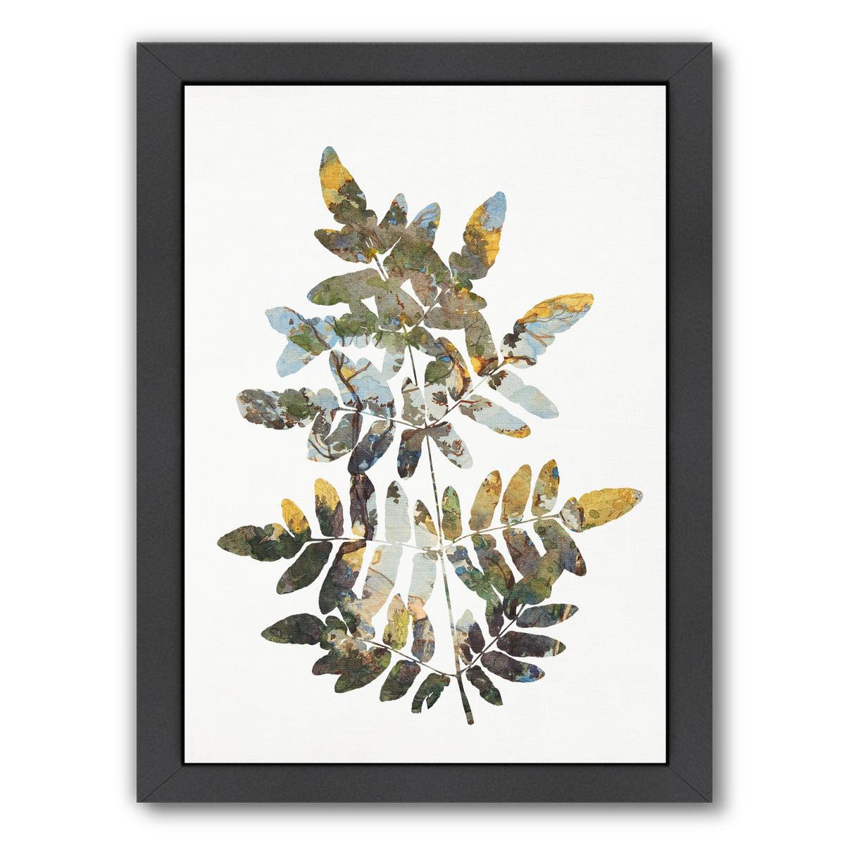 Leaf Collage Ii By Chaos & Wonder Design - Black Framed Print - Wall Art - Americanflat