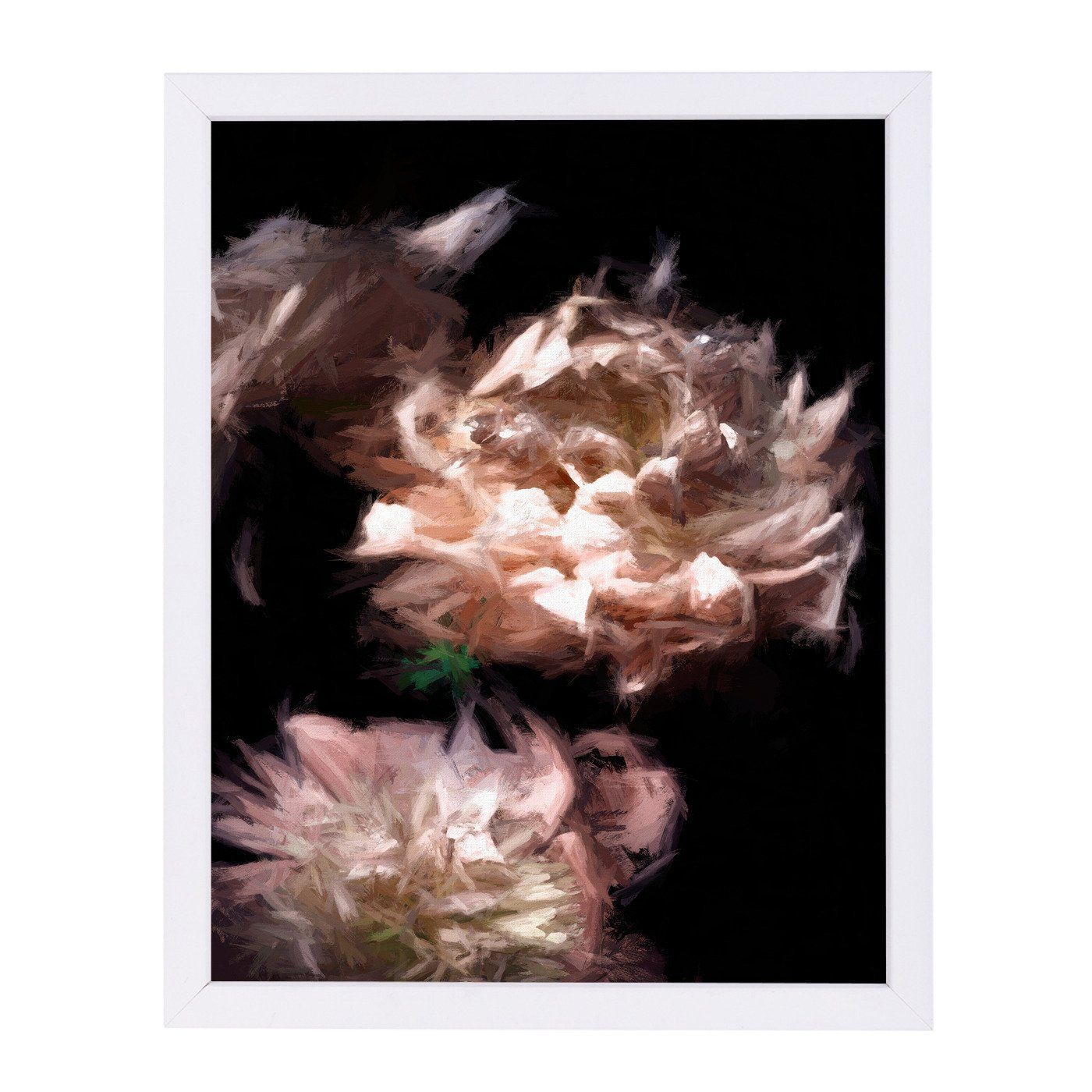 Abstract Peonies By Chaos & Wonder Design - White Framed Print - Wall Art - Americanflat