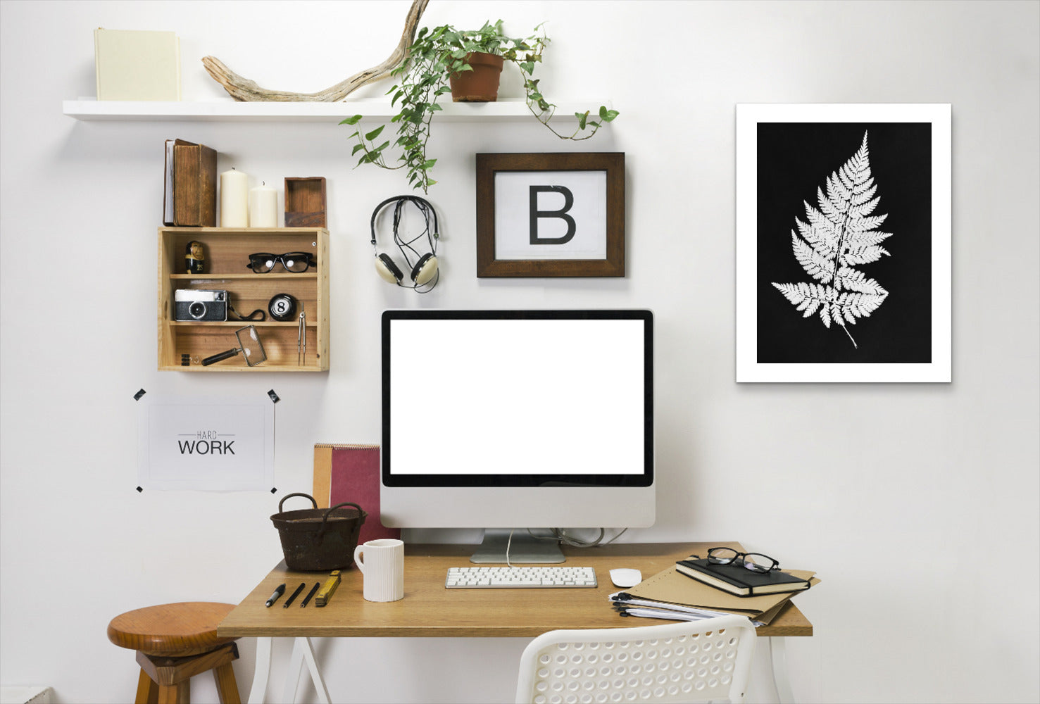 White Fern I Master Layer By Chaos & Wonder Design - White Framed Print - Wall Art - Americanflat