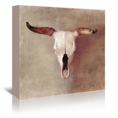 Bullskull Warm Tones By Chaos & Wonder Design - Wrapped Canvas - Wrapped Canvas - Americanflat