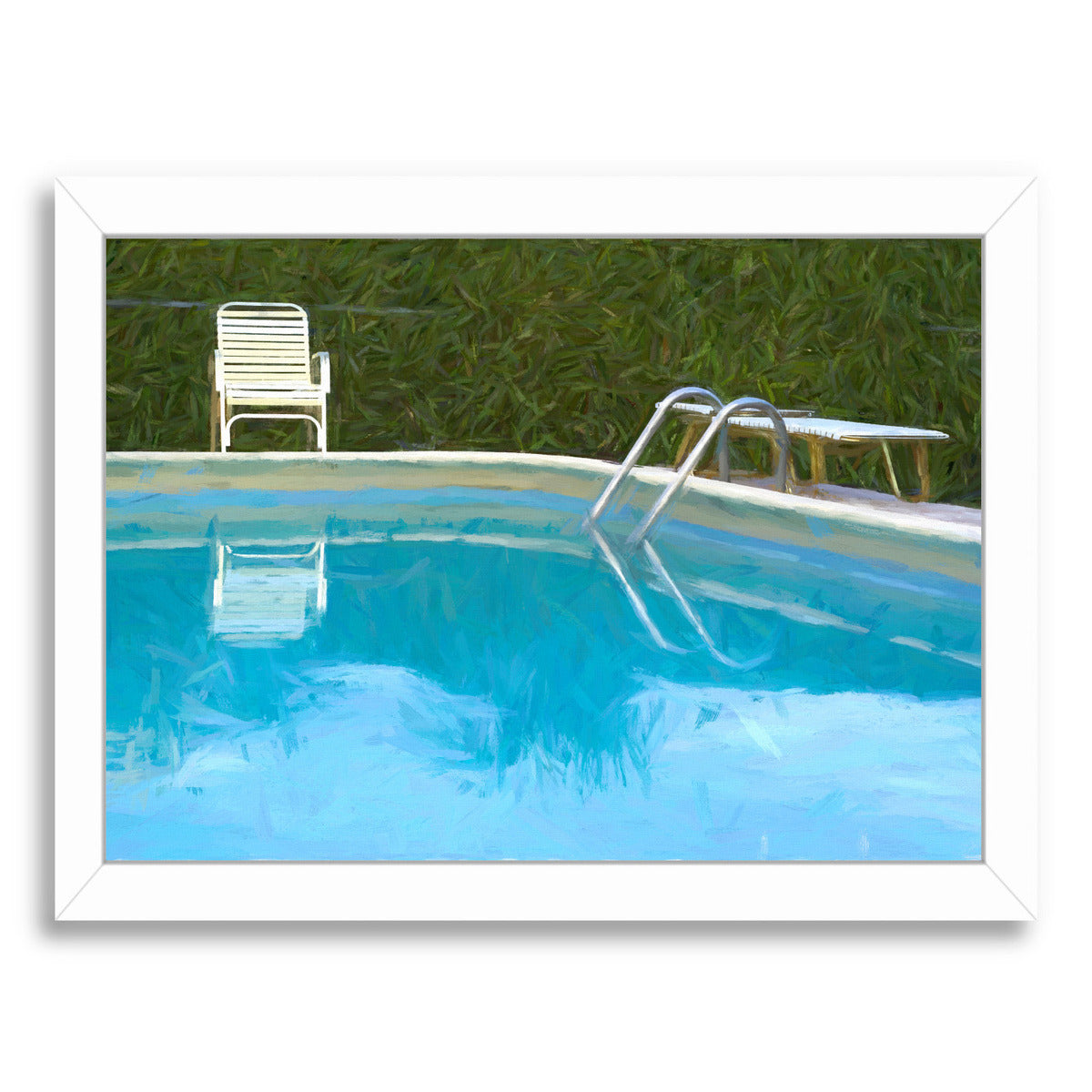Motel Pool By Chaos & Wonder Design - White Framed Print - Wall Art - Americanflat