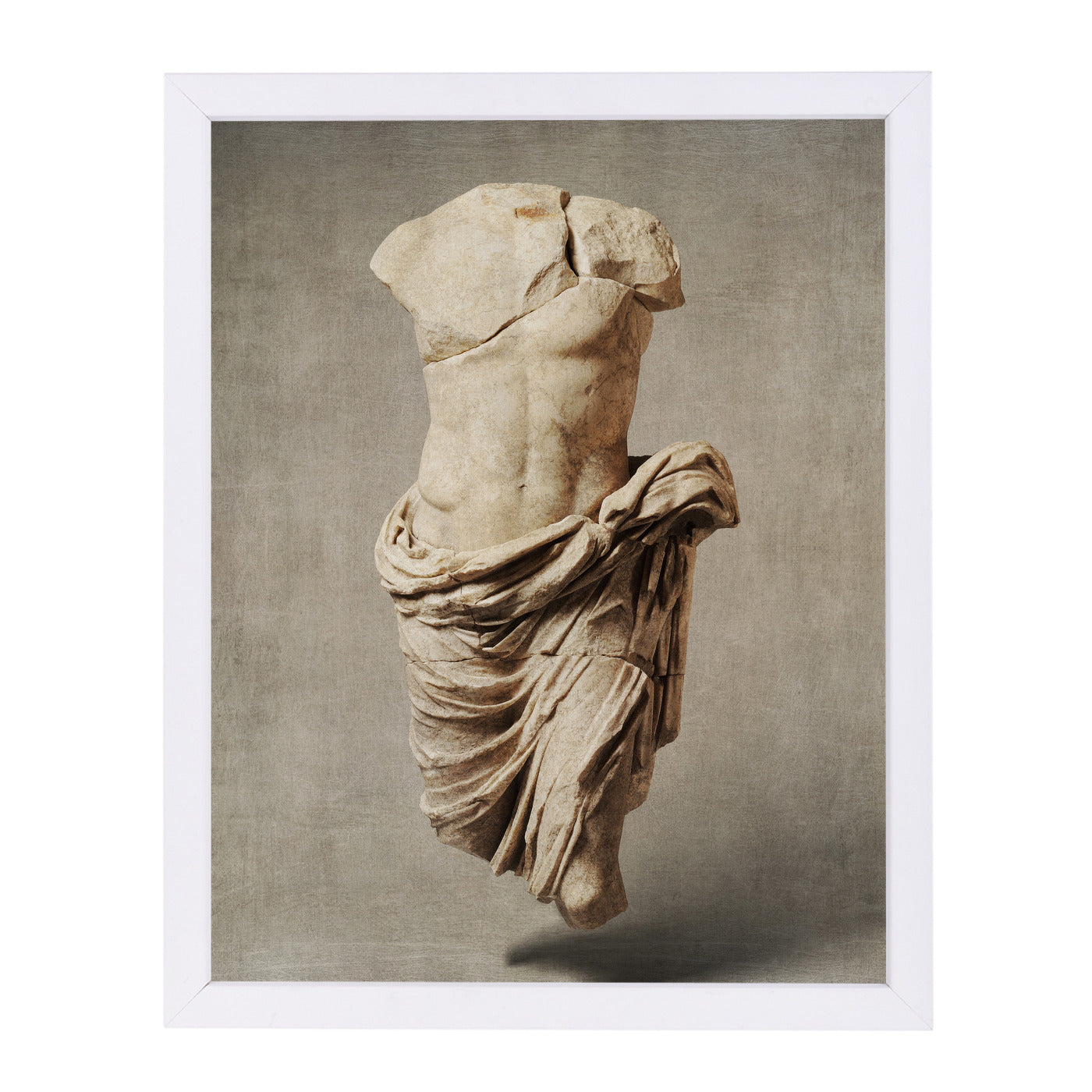 Roman Marble By Chaos & Wonder Design - White Framed Print - Wall Art - Americanflat