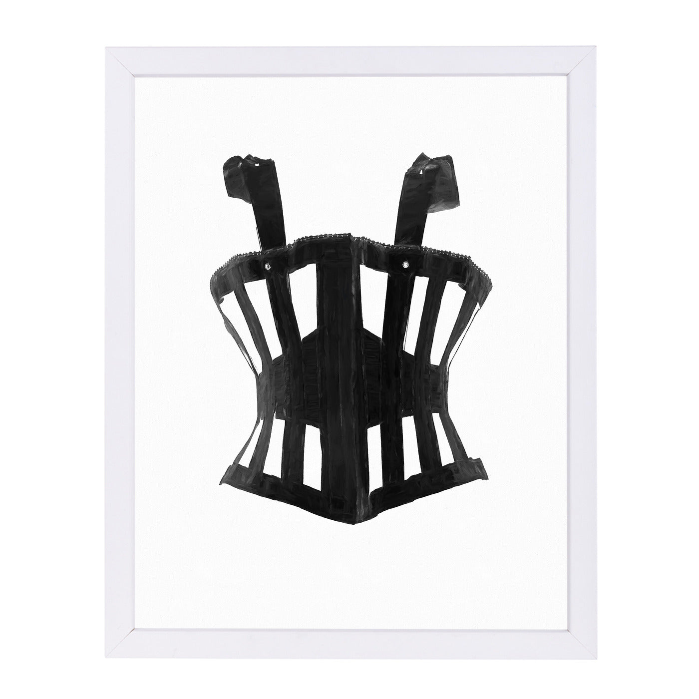"Intage Corset Ii By Chaos & Wonder Design - White Framed Print, Wall Art, Chaos & Wonder Design, 8"" x 10"""