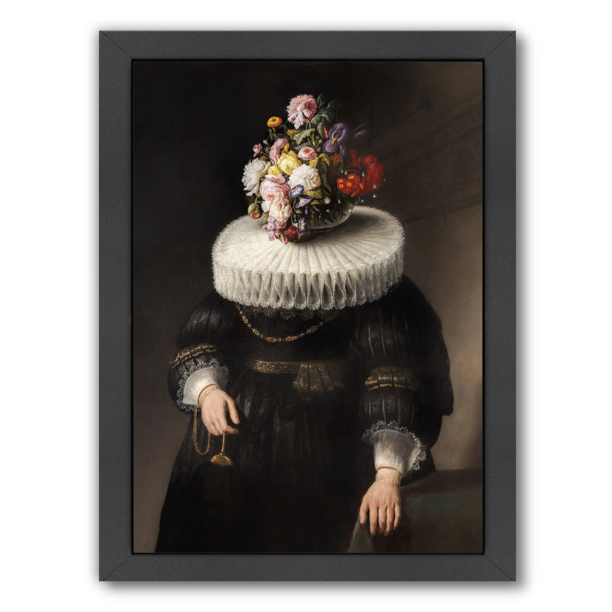 "Flower Portrait Dutch By Chaos & Wonder Design - Black Framed Print, Wall Art, Chaos & Wonder Design, 8"" x 10"""