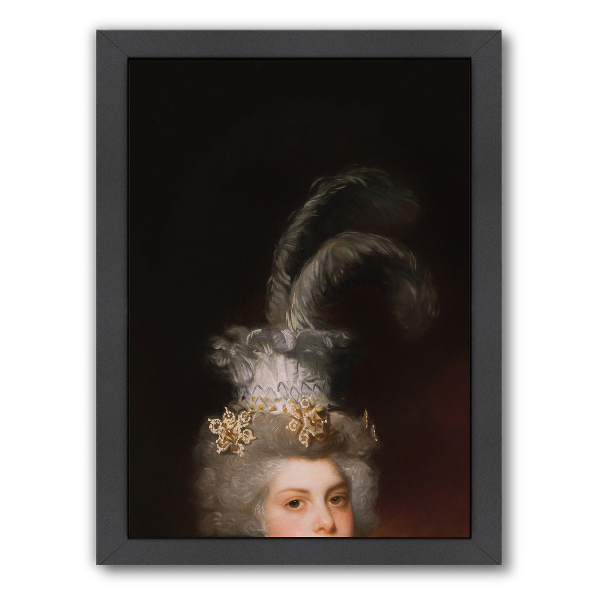 The Hat By Chaos & Wonder Design - Black Framed Print - Wall Art - Americanflat