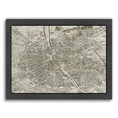 Map Paris By Chaos & Wonder Design - Black Framed Print - Wall Art - Americanflat