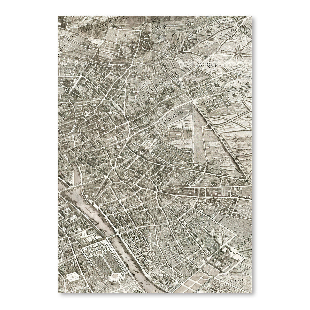 Map Paris II by Chaos & Wonder Design - Art Print - Americanflat