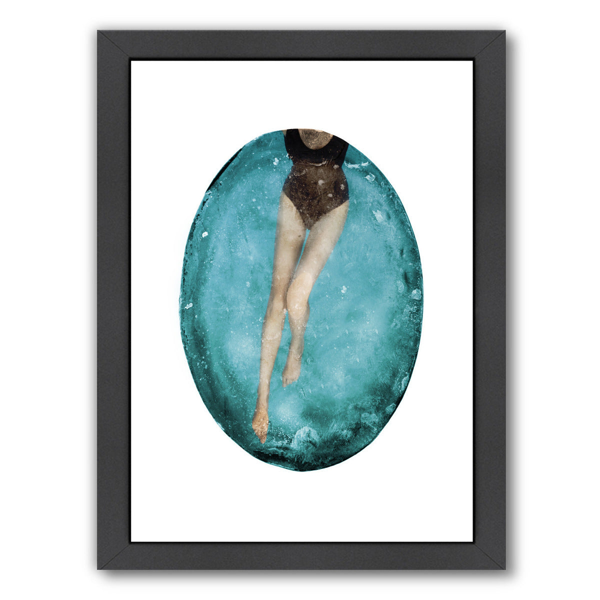 Pool By Chaos & Wonder Design - Black Framed Print - Wall Art - Americanflat