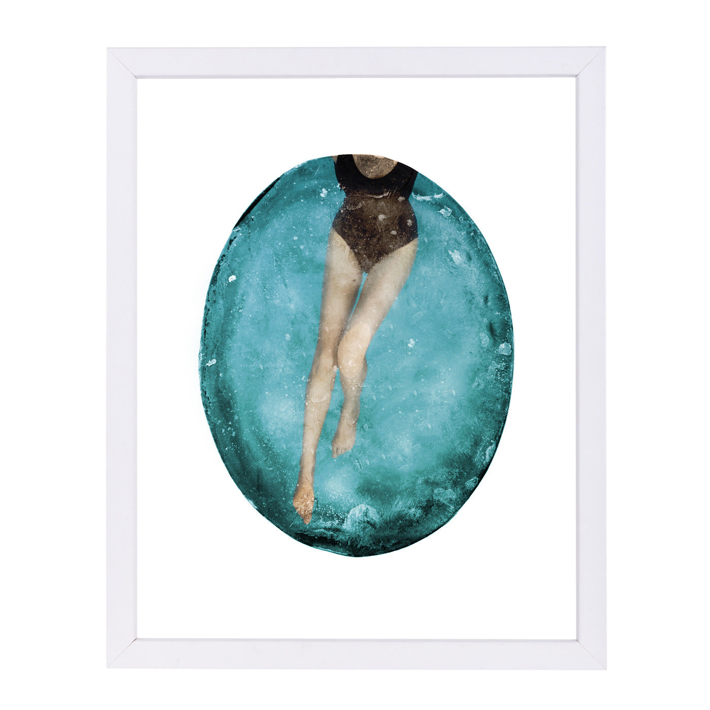 "Pool By Chaos & Wonder Design - White Framed Print, Wall Art, Chaos & Wonder Design, 8"" x 10"""