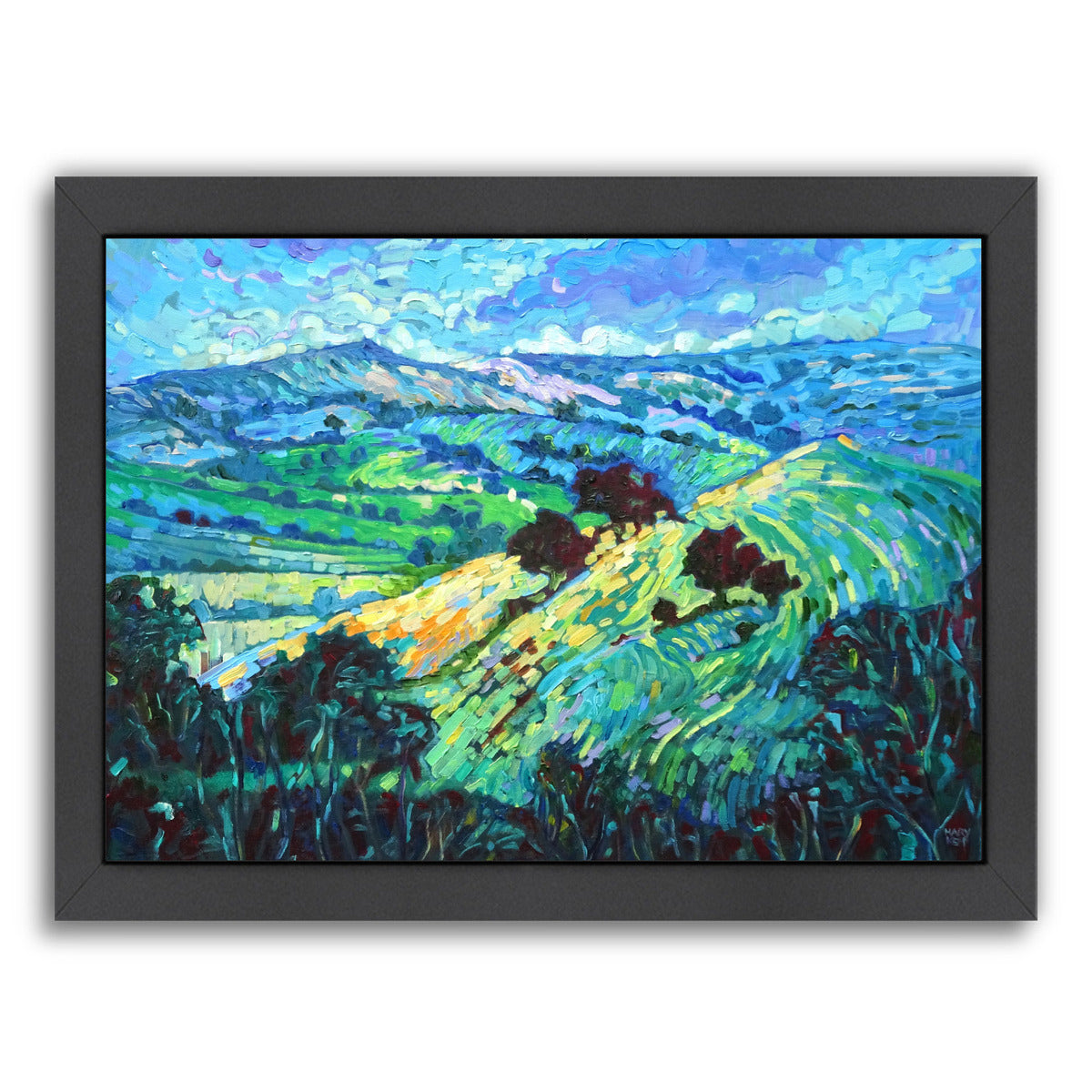 "Blue John, Derbyshire By Mary Kemp - Black Framed Print, Wall Art, Mary Kemp, 8"" x 10"""
