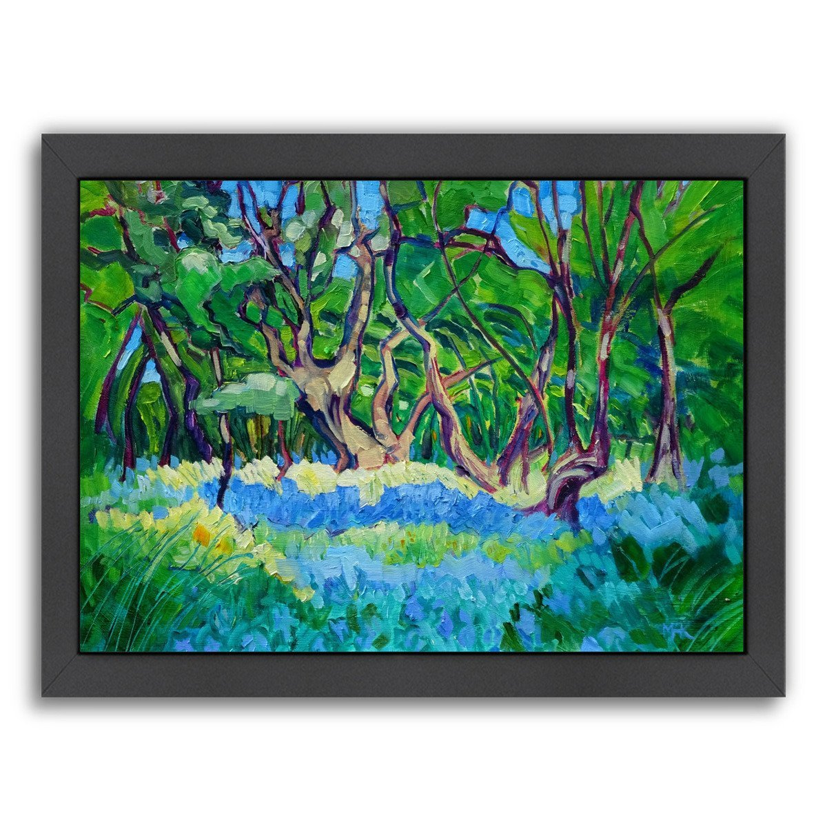 Bluebell Wood By Mary Kemp - Black Framed Print - Wall Art - Americanflat